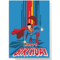 Superman Happy Birthday Greetings Card - Standard Card