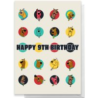 Scooby Doo 9th Birthday Greetings Card - Standard Card