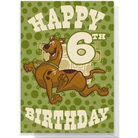 Scooby Doo 6th Birthday Greetings Card - Standard Card