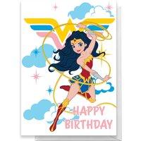 Wonder Woman Happy Birthday Greetings Card - Large Card