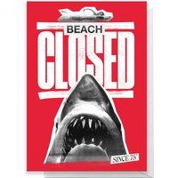 Jaws Beach Closed Greetings Card - Standard Card