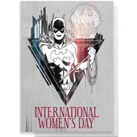 BatGirl International Women's Day Greetings Card - Standard Card