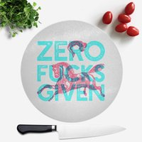 Zero Fuck Givens Round Chopping Board