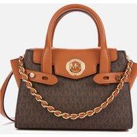 MICHAEL Michael Kors Womens Carmen Flap Messenger Bag - Brown/Acorn