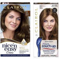 Clairol Nice' n Easy Permanent Hair Dye and Root Touch up Duo (Various Shades) - 5G Medium Golden Br