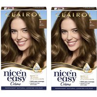 Clairol Nice' n Easy Creme Natural Looking Oil Infused Permanent Hair Dye Duo (Various Shades) - 6 L