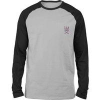 Transformers Decepticons Embroidered Unisex Long Sleeved Raglan T-Shirt - Grey/Black - S