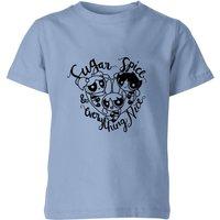 The Powerpuff Girls Sugar Spice And Everything Nice Kids' T-Shirt - Sky Blue - 3-4 Years - Sky blue