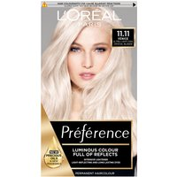 L'Oreal Paris Preference Infinia Hair Dye (Various Shades) - 11.11 Ultra Light Crystal Blonde
