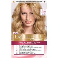 Image of L'Oréal Paris Excellence Crème Permanent Hair Dye (Various Shades) - 8.3 Natural Golden Blonde
