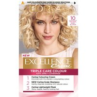 L'Oreal Paris Excellence Creme Permanent Hair Dye (Various Shades) - 10 Natural Baby Blonde