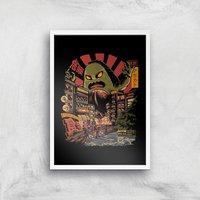 Ilustrata Avo Killer Giclee Art Print - A4 - White Frame
