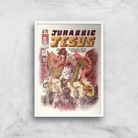 Ilustrata Jurassic Jesus Giclee Art Print - A2 - White Frame