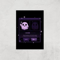 Ilustrata Dandere Ghost Giclee Art Print - A4 - Print Only