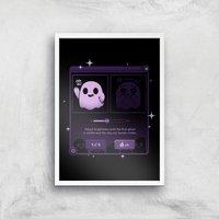 Ilustrata Dandere Ghost Giclee Art Print - A2 - White Frame