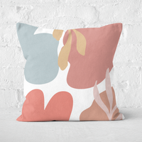 Abstract Clouds And Leaves Square Cushion - 50x50cm - Soft Touch