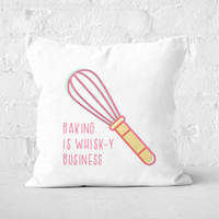 Baking Is Whisk-y Business Square Cushion - 60x60cm - Soft Touch