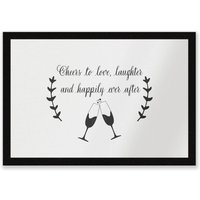 Cheers To Love Entrance Mat