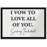 I Vow To Love All Of You Entrance Mat