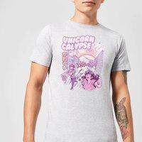 Ilustrata Unicorn Apocolypse Mens T-Shirt - Grey - XXL - Grey