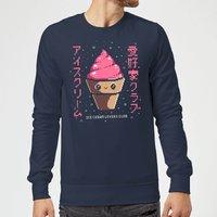 Ilustrata Ice Cream Lovers Club Sweatshirt - Navy - M - Navy