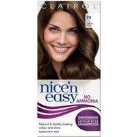Clairol Nice'n Easy Semi-Permanent Hair Dye with No Ammonia (Various Shades) - 75 Light Ash Brown