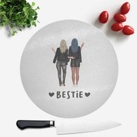 Image of Pressed Flowers Bestie Round Chopping Board