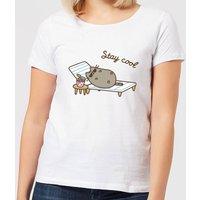 Pusheen Stay Cool Women's T-Shirt - White - 4XL - White
