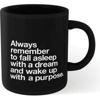 The Motivated Type Fall Asleep With A Dream Mug - Black