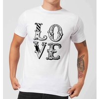 The Motivated Type Love Men's T-Shirt - White - 5XL - White