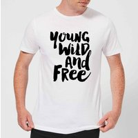 The Motivated Type Young, Wild And Free. Men's T-Shirt - White - 5XL - White