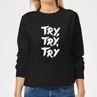 The Motivated Type Motivated Type.ai -18 Women's Sweatshirt - Black - L - Black