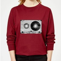 The Motivated Type Tape Women's Sweatshirt - Burgundy - M - Burgundy