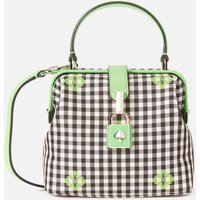 Kate Spade New York Womens Remedy Gingham Small Top Handle Bag - Green Multi
