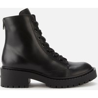 KENZO Women's Pike Leather Lace Up Boots - Black - UK 6.5