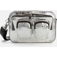 shop for Núnoo Women's Ellie Metallic Cool Bag - Silver at Shopo