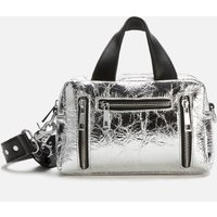 shop for Núnoo Women's Mini Donna Cool Metallic Bag - Silver at Shopo