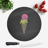 Ice Cream Round Chopping Board