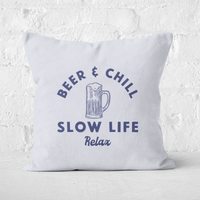 Beer And Chill Square Cushion - 60x60cm - Soft Touch