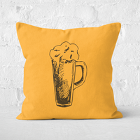 Beer Glass Square Cushion - 40x40cm - Soft Touch