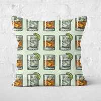 Whisky And Vodka Square Cushion - 40x40cm - Soft Touch