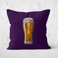 Beer Square Cushion - 50x50cm - Soft Touch