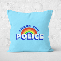 Thank You Police Square Cushion - 50x50cm - Soft Touch