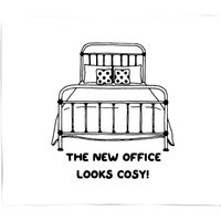 The New Office Looks Cosy Fleece Blanket