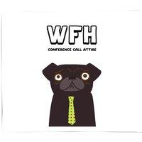 Conference Call Attire Fleece Blanket