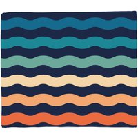 Rainbow Wave Fleece Blanket
