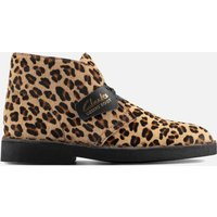 Clarks Womens Suede 2 Desert Boots - Leopard Print - UK 6