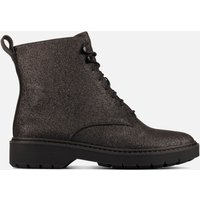 Clarks Women's Witcombe Hi 2 Glitter Leather Lace Up Boots - Black Glitter - UK 3