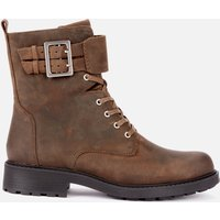 Clarks Women's Orinoco 2 Leather Lace Up Boots - Dark Olive - UK 4