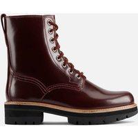 Clarks Womens Orianna Hi Leather Lace Up Boots - Merlot - UK 8